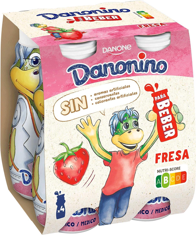 Danonino Danone Bebedino Fresa, 4 x 100g