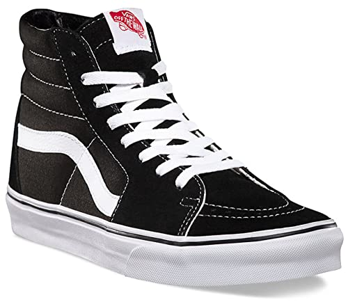 VANS Unisex Sk8-Hi Canvas High Top Shoes (5 Men's 6.5 Women's, Black