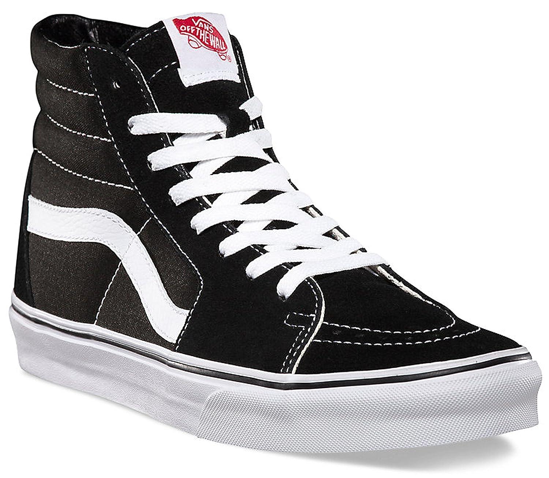 Vans Unisex SK8-Hi Black/Black/White VN000D5IB8C Mens 9.5, Womens 11