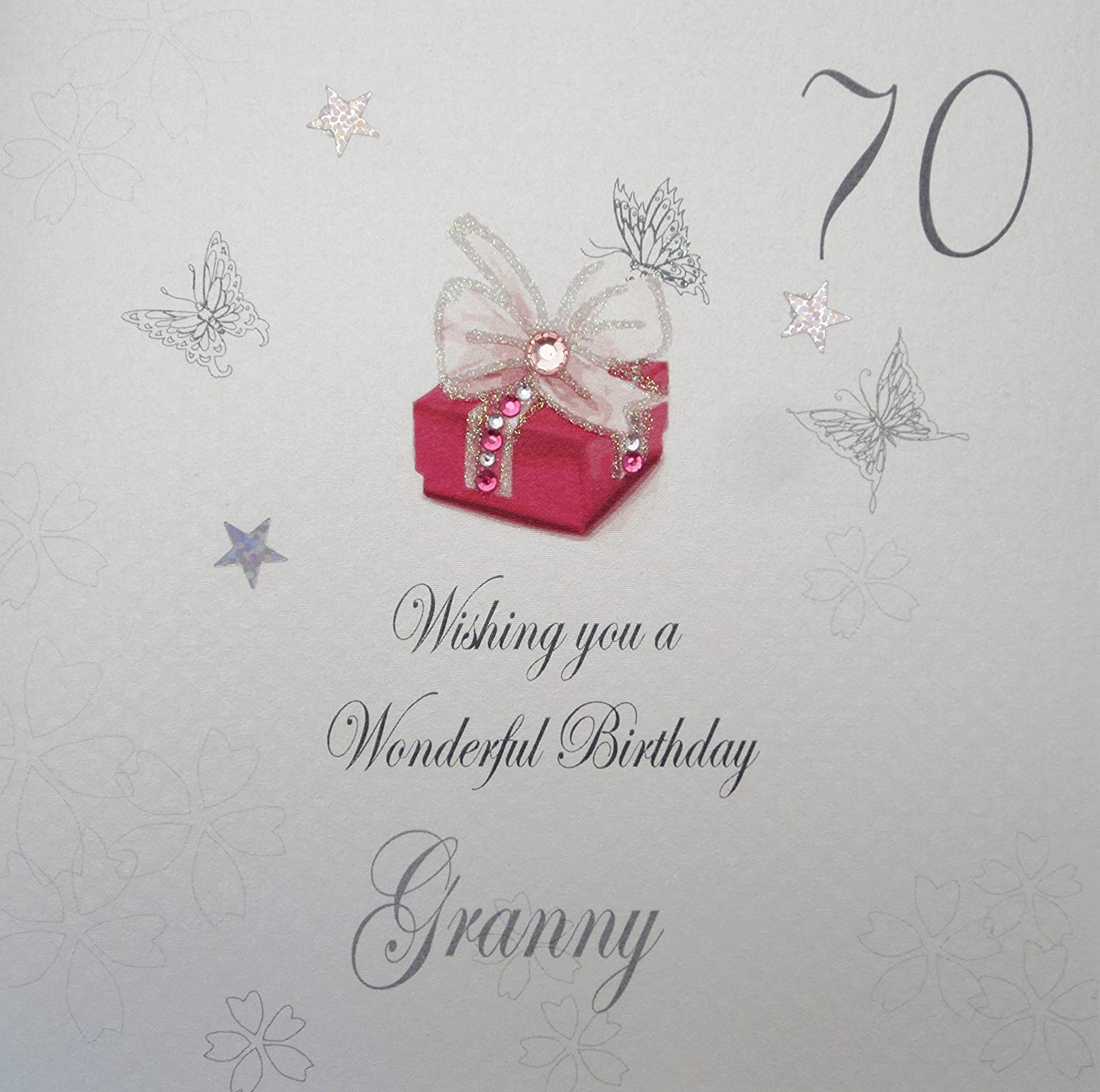 WHITE COTTON CARDS 70 Wishing You A Wonderful Handmade Birthday Card Granny 70th