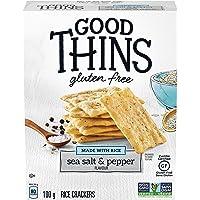 GOOD THINS Rice Sea Salt & Pepper Gluten Free Crackers 100 g (Pack of 1)