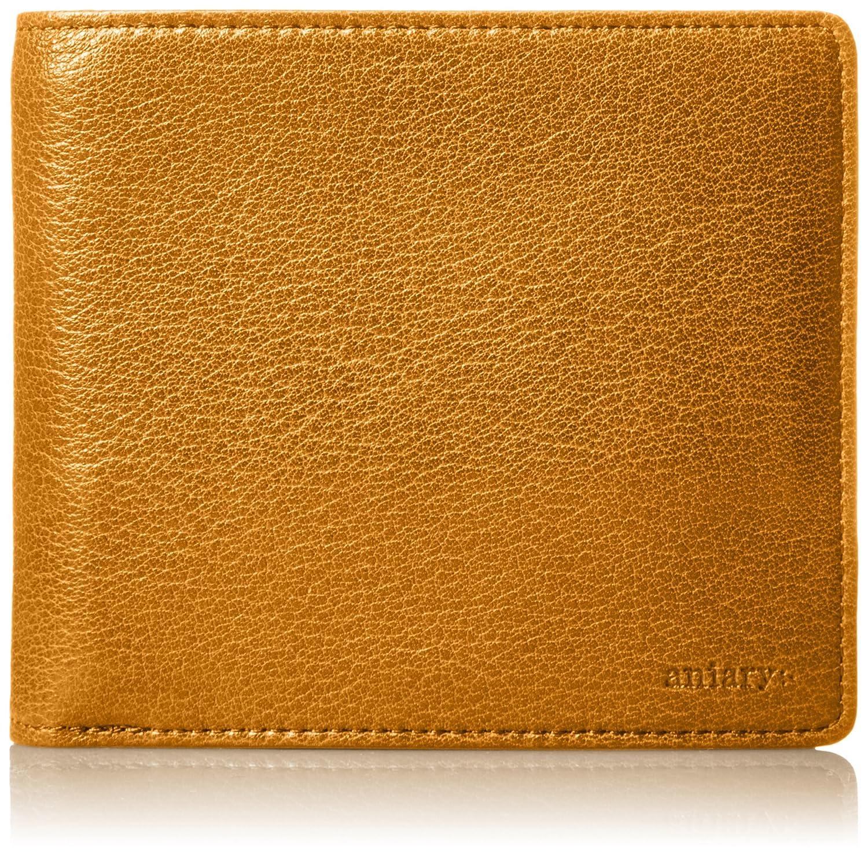[アニアリ] 二つ折り財布 アンティークレザー 01-20000 B076P223BH  キャメル -