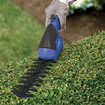 Sun Joe HJ604C-SJB 7.2V Cordless 2-in-1 Grass Shear, Hedge Trimmer, Dark Blue