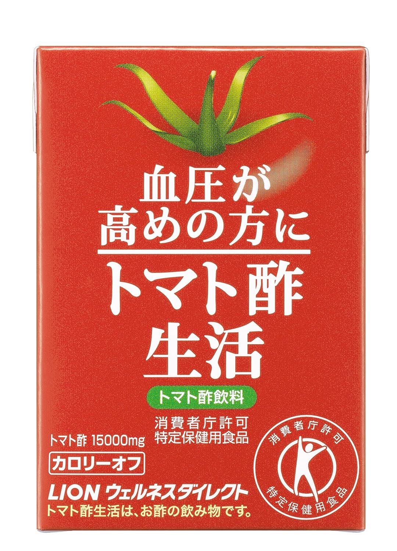 特定保健用食品:ライオン 血圧が高めの方に適した トマト酢生活紙パック 90本入(約90日分)   B01N7FLDN2