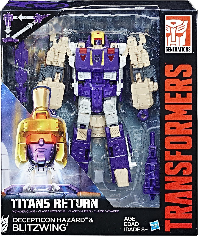 Transformers Titans Return V Class DECEPTICON HAZARD /& BLITZWING Robots Kids Toy