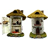 "Fairy Garden House Kit - Miniature Accessories & Furniture – House is 9.25""High – Door Opens Wide – Fairy Farm Collection – Supplies by Pretmanns"