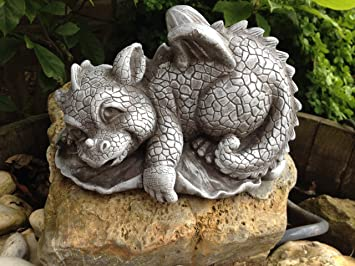 Steinfigur Drache Gartenfigur Frostfeste Steinfiguren Für Haus Und