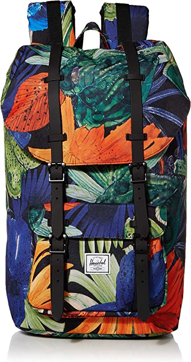 - 10492-03003-OS Herschel Little America Mid Volume Jaune Sac pour adulte unisexe Arrowwood Charbons en croix