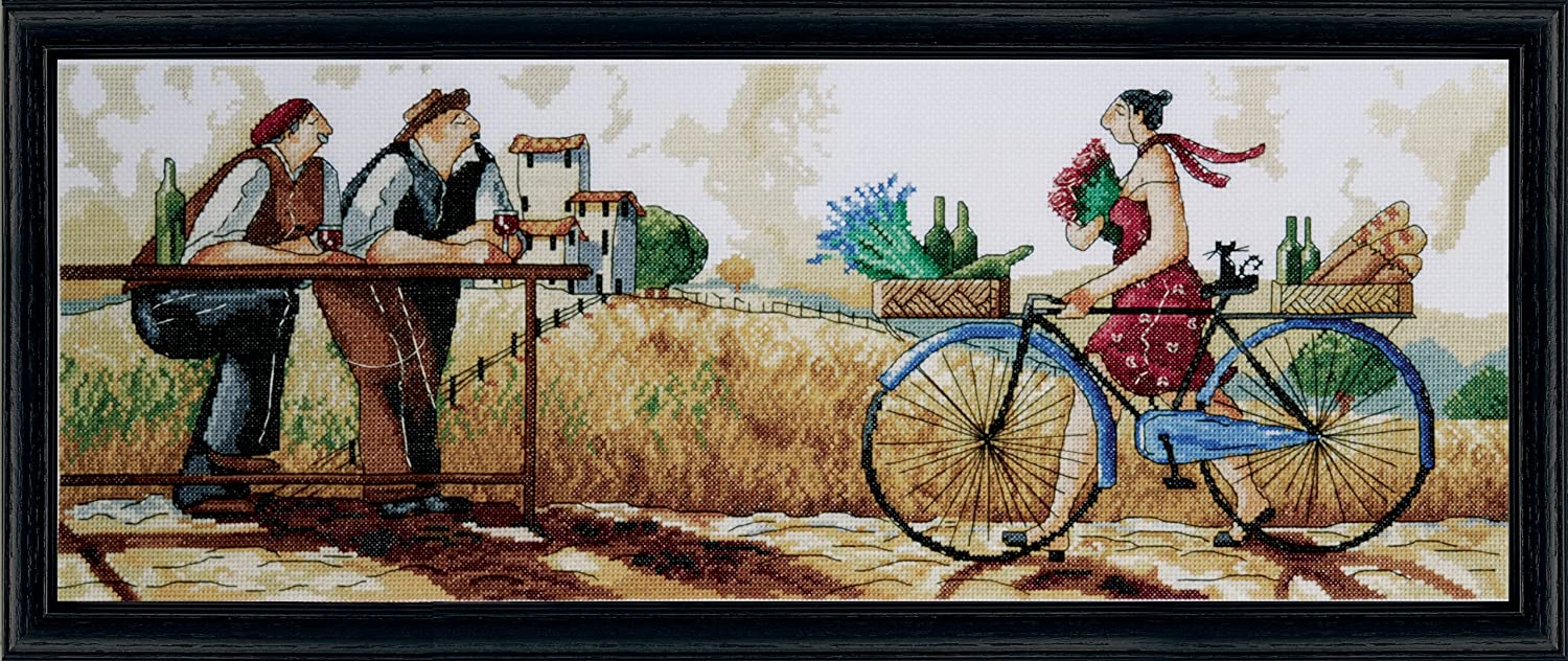 Design Works Crafts Tobin 00714 My Day Off Counted Cross Stitch Kit-12X12 14 Count