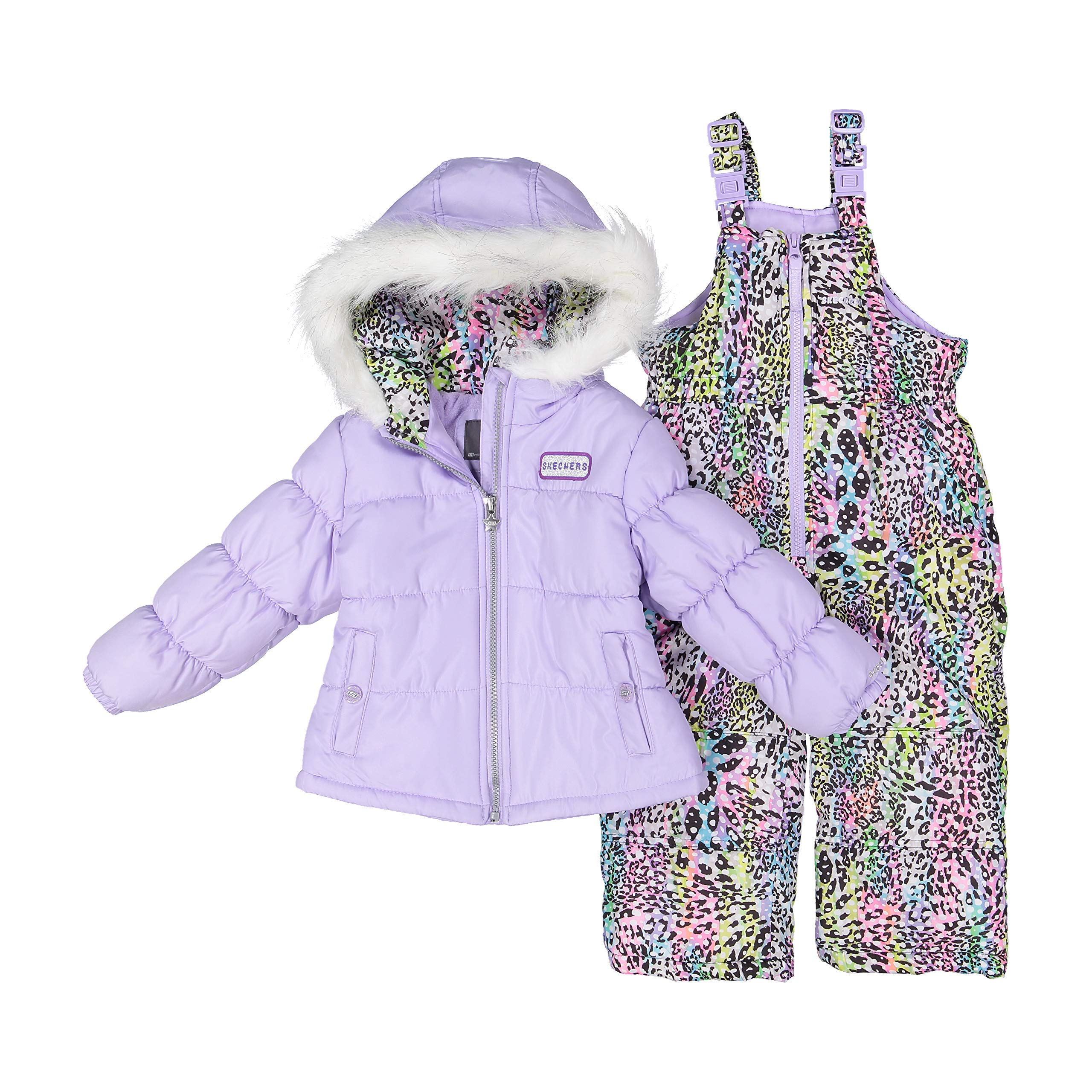 Skechers Girl's 2-Piece Heavy Weight Insulated Snowsuit (Lavender, 4) by Skechers