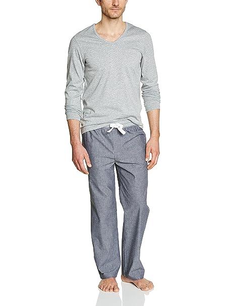 Celio BITESSE - Pijama para hombre, color gris (marine), talla S