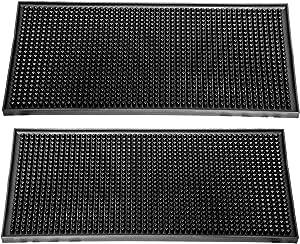 """BonBon 2-Pack Professional 12"""" x 6"""" Rubber Bar Service Mat 2-Pack (12"""" x 6"""")"""