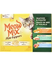 Meow Mix Pâté Toppers Seafood & Poultry Cat Food Variety 12 Pack