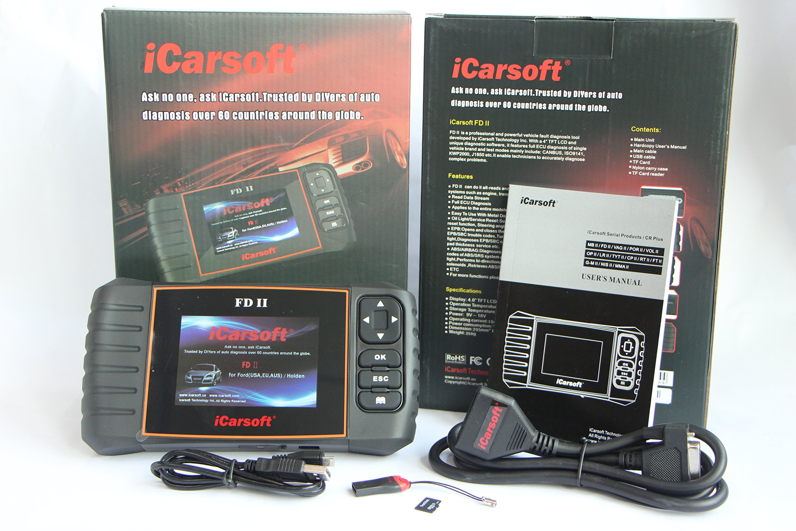 iCarsoft FD II Ford Holden Car Diagnostic Scanner Tool Oil SRS ABS Engine