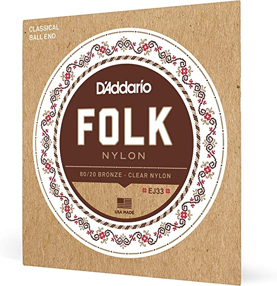 D'Addario EJ33 Folk Nylon Guitar Strings