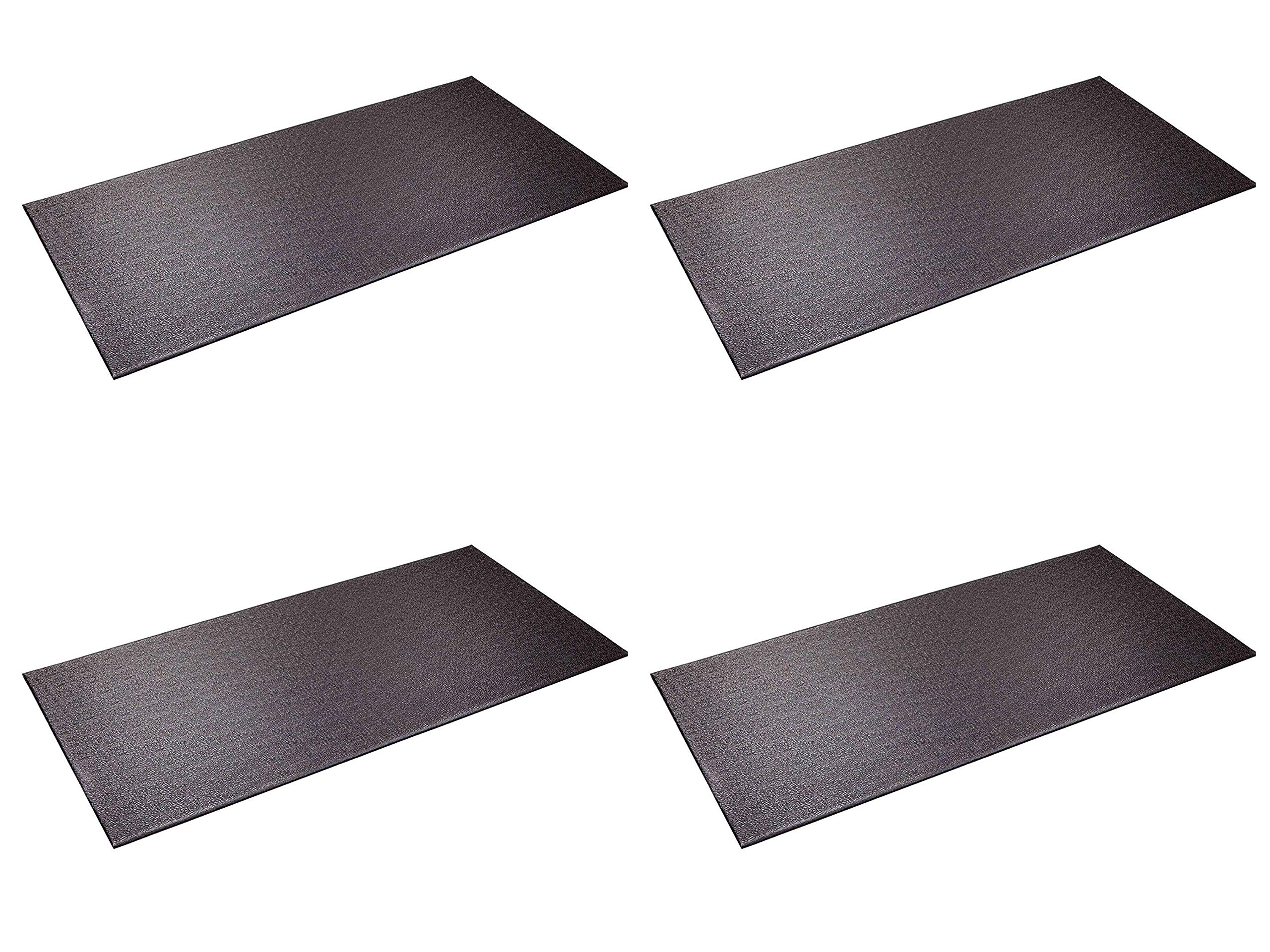 SuperMats Heavy Duty Equipment Mat 13GS Made in U.S.A. for Indoor Cycles Recumbent Bikes Upright Exercise Bikes and Steppers (2.5 Feet x 5 Feet) (30-Inch x 60-Inch) (Fоur Расk)