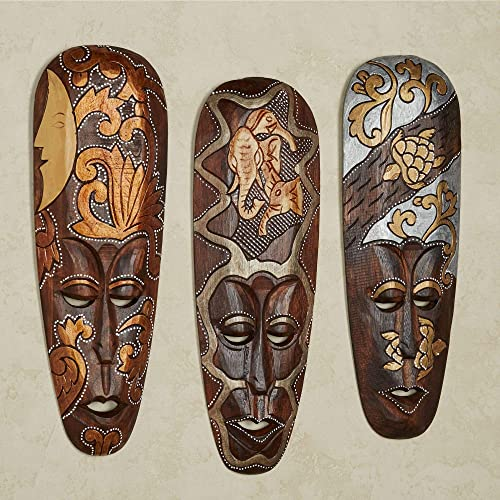 Reviewed: Masks of Africa Wall Art Brown Set of Three