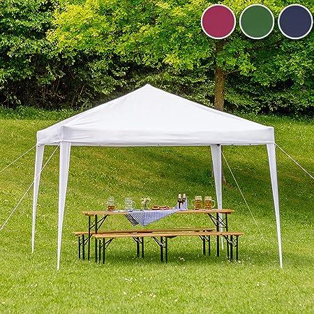 TecTake Gazebo Plegable jardín Fiesta Tienda de campaña Carpa pabellón 3x3 m con Funda de Transporte (Azul | No. 401621): Amazon.es: Jardín