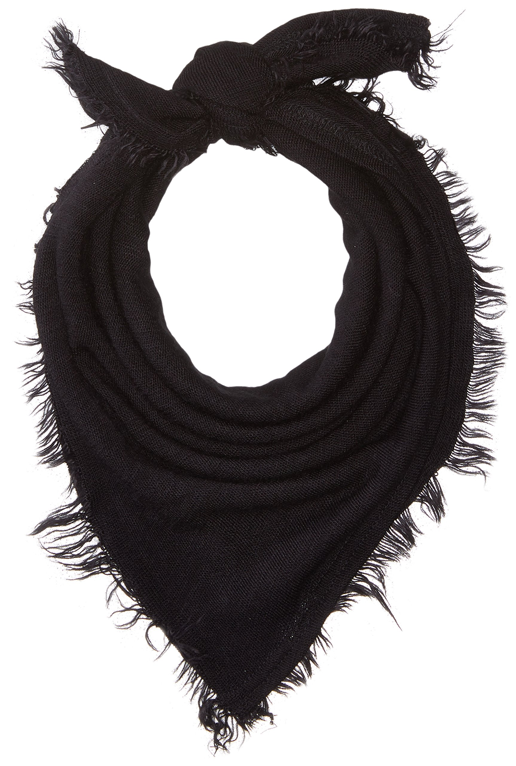 Collection XIIX Women's Fringed Bandana, black, One Size