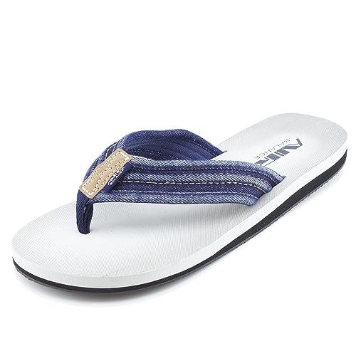 Air Balance Mens Lightweight Comfy Wide Flip Flops Sandal (Adult 7 8 9 10 11 12)