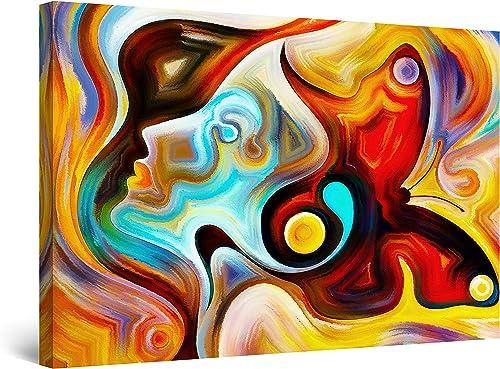 Startonight Canvas Wall Art Abstract Colored Woman Face Simona