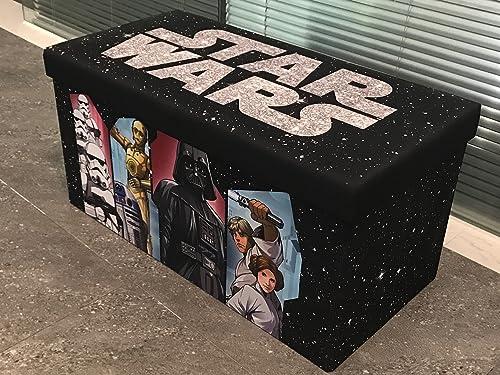 Disney Star Wars Collapsiblie Storage Bench, 30 W, Multi Color