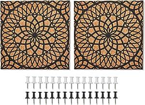 ModCork Memo Boards - Decorative Cork Wall Decor with Black Hypotrochoid Geometric Designer Print - Self-Healing Cork Bulletin or Vision Planning Board - 12 x 12 x 1 inch
