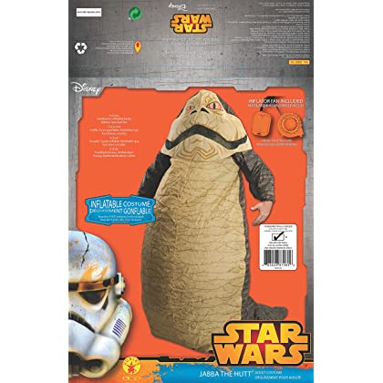 Star Wars Jabba The Hut Inflatable Costume Size STD