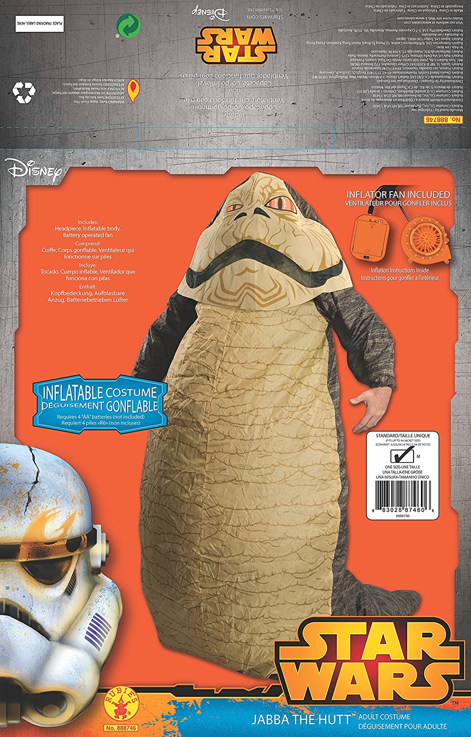 Amazon.com: Rubies Costume Star Wars Jabba The Hut Deluxe ...