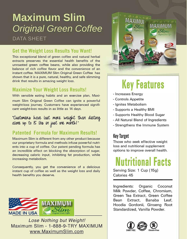 maximum slim green coffee ervaringen
