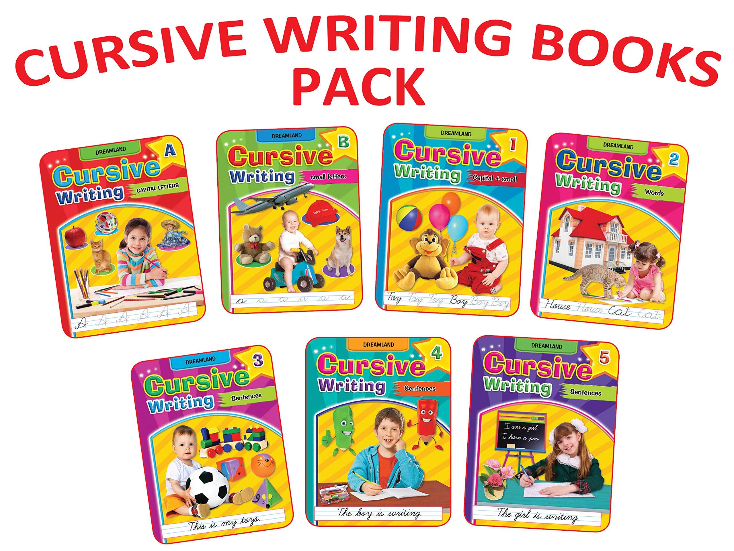 Cursive Writing Book (Set of 7 Books) Paperback – 1 January 2021