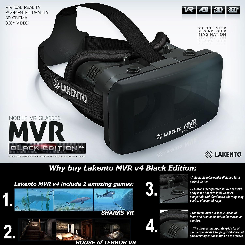 Pack de realidad virtual Lakento V4 gafas VR + botones de controle ...