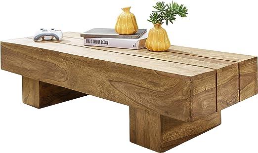 Wohnling WL1.439 - Mesa de centro de madera maciza de acacia, 120 ...