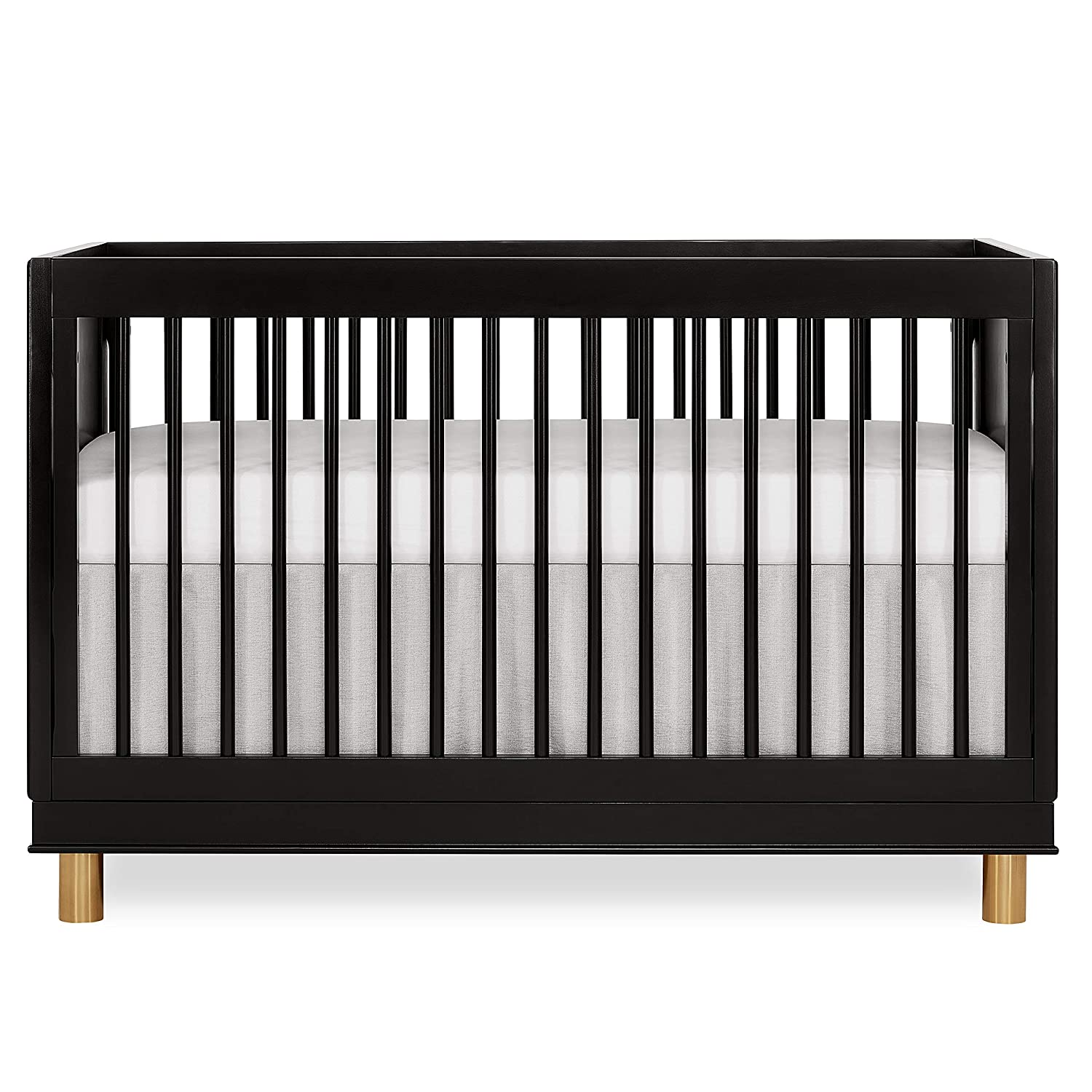 Evolur Loft Art Deco 3-in-1 Convertible Crib in Black, Greenguard Gold Certified