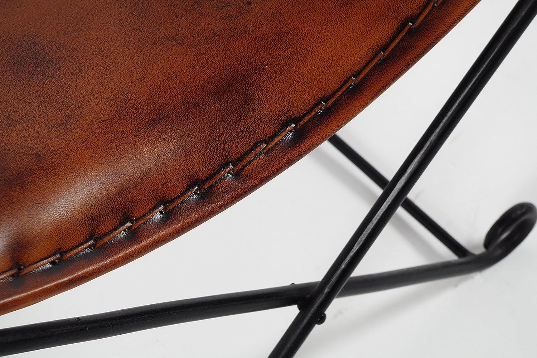 Sgabello sella sgabello sedia cuoio rustico sgabello struttura in