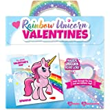 Kangaroo's Rainbow Unicorn Valentine's Cards (28-Count)