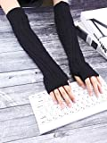 Bememo 3 Pairs Arm Warmers Winter Long Fingerless