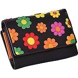 "Visconti Trifold Cuir Femme Portefeuille ""Daisy"",Floral Multicolor Purse(DS81):"