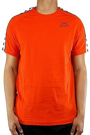 8f6122e4 Kappa Banda Coen Slim T-Shirt Large Orange: Amazon.co.uk: Clothing