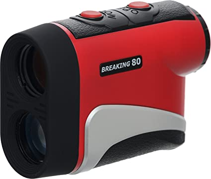 amazon com breaking 80 golf is800 rangefinder red sports outdoors