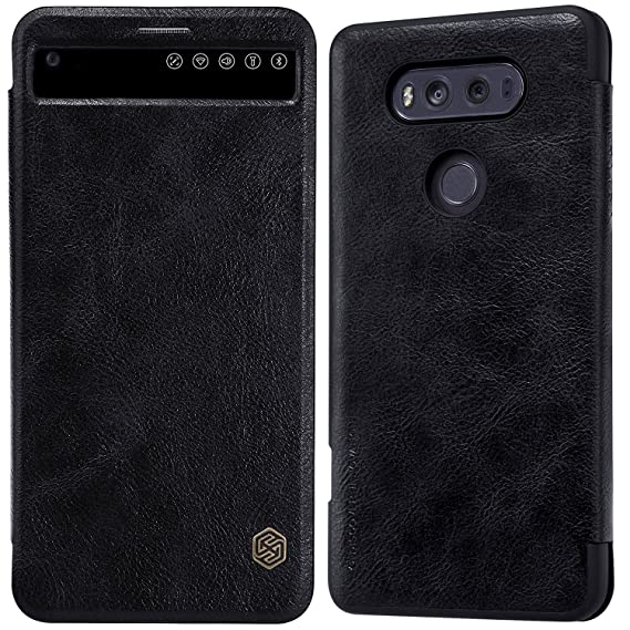 best website c5fe6 3bc82 LG V20 Window View Auto Wake/Sleep Case,Nillkin Premium PU Leather Slim  Folio Flip Cover LG V20 Case,[Qin] Synthetic Leather Hard PC Inner Shell ...
