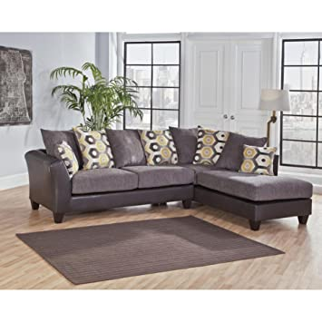 Peachy Amazon Com Sofa Trendz Danny Grey Two Tone Sectional Creativecarmelina Interior Chair Design Creativecarmelinacom