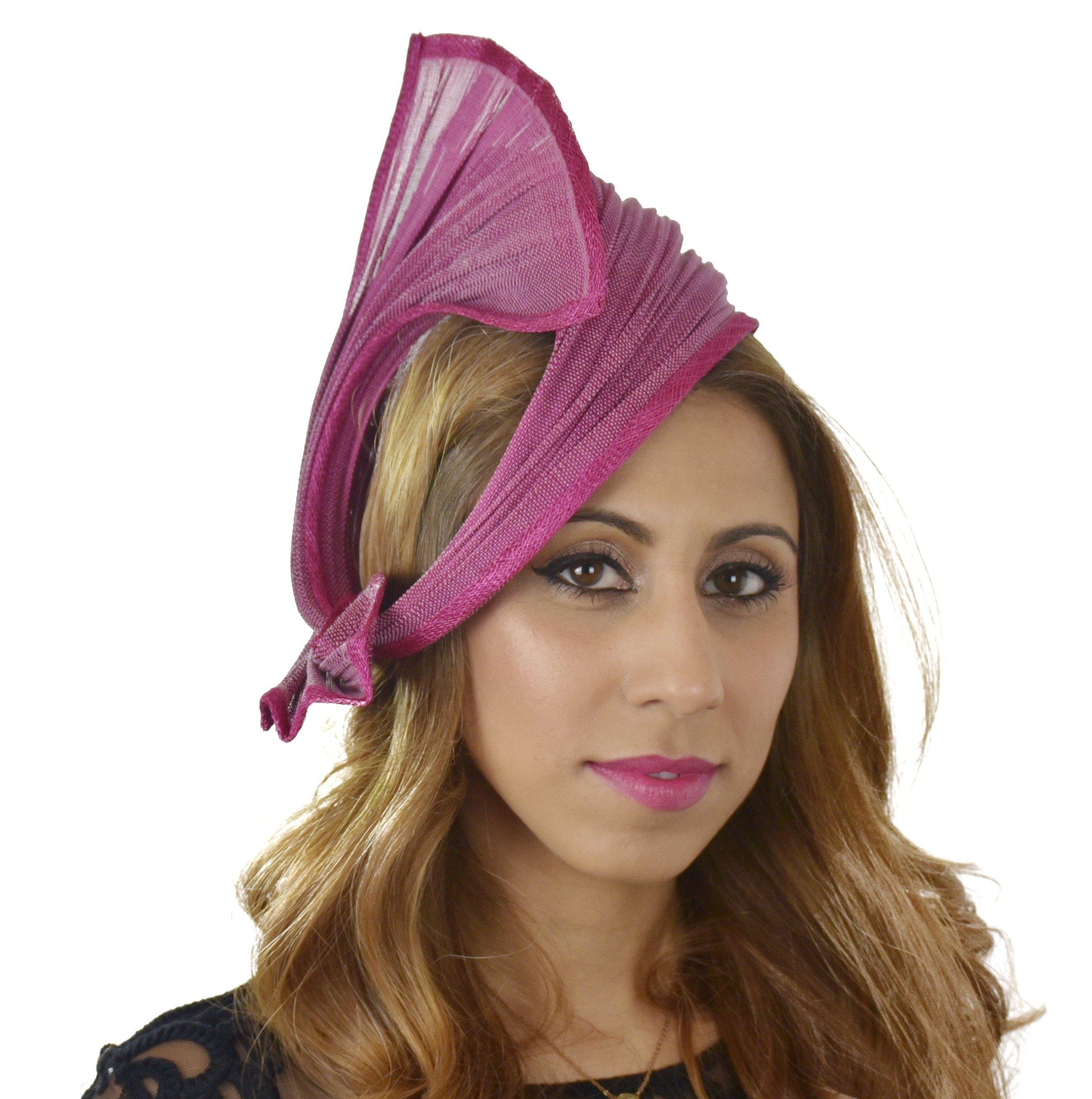 Hats By Cressida Ladies Wedding Races Ascot Derby Fascinator Headband Fuchsia by Hats By Cressida