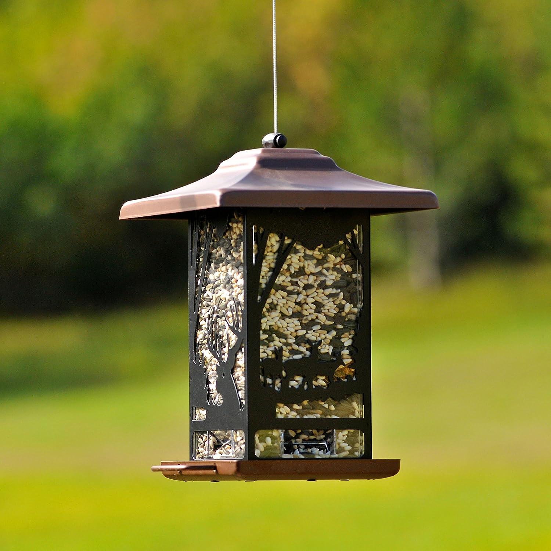 Opus [Perky-Pet] 8504-2 Comedero para pájaros Farol con motivos del bosque