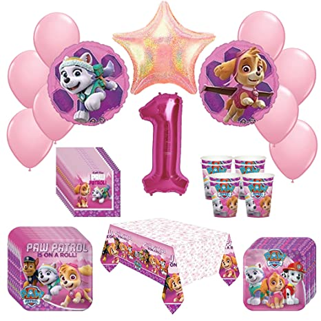 Amazon Girl Pups Paw Patrol Skye Everest 1st Birthday Party