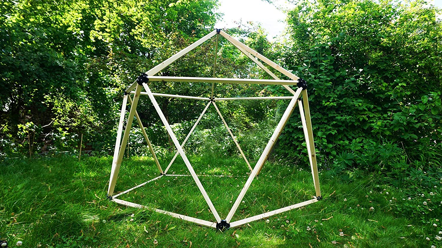 Magidome #1 Geodesic Dome Connectors: Build a DIY Geodesic Greenhouse, Yurt, Tent, Trellis, Hoop House, Cold Frame for Gardening, Meditation, Yoga, Camping and Festivals