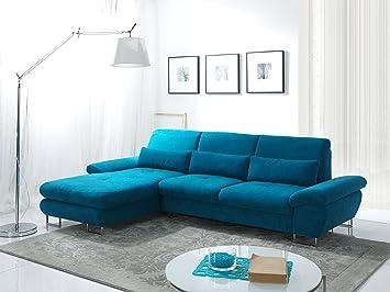 Designer couch stoff  Rabatti Reggio Sofa Couch mit Schlaffunktion, verstellbarer ...