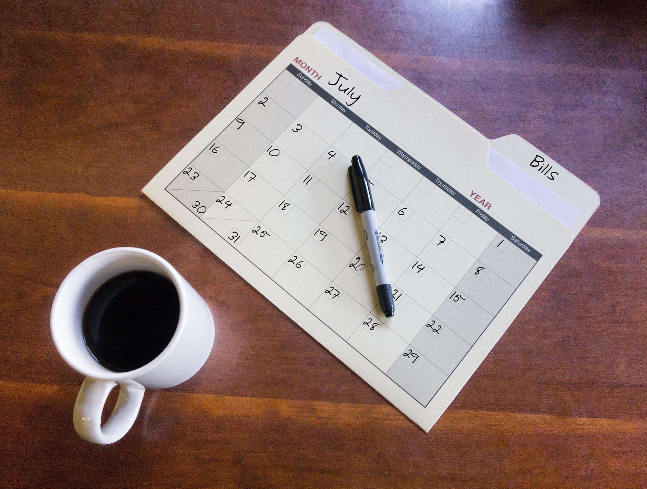 Find-It Calendar File Folders, 12 Pack, Manila (FT07465) by Find It (Image #4)