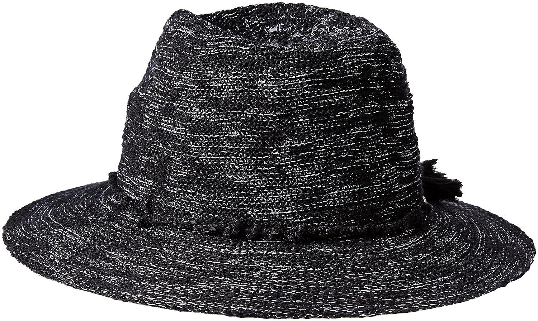 Vince Camuto Womens Cotton Slub Yarn Panama Hat Black One Size At