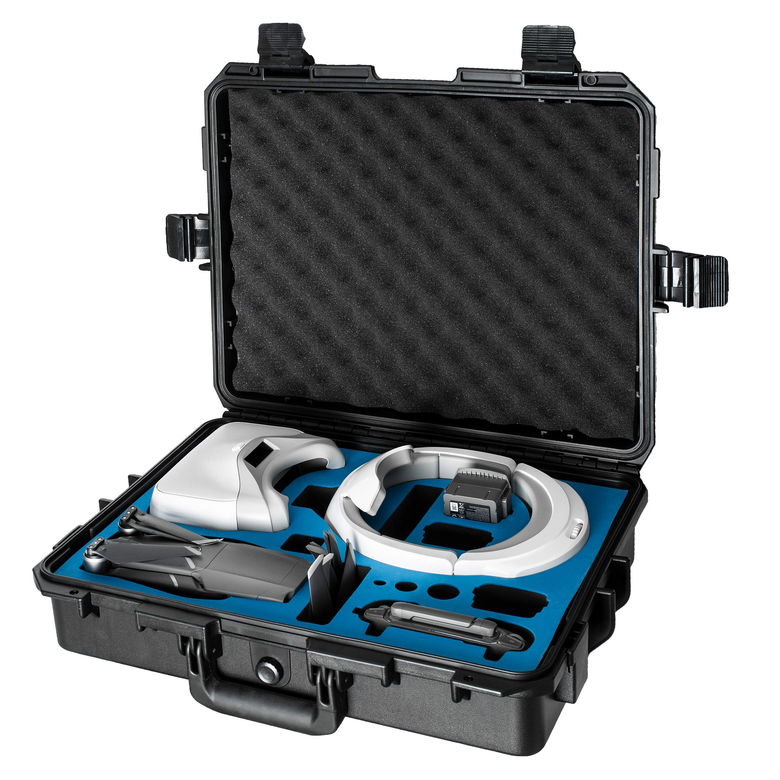 Ultimaxx Water Proof Rugged Compact Storage Hard Case for DJI FPV VR Goggles & DJI Mavic 2 Pro/Zoom + Fits Extra Accessories by Ultimaxx